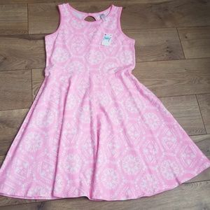 New Justice Girl's size 12 Pink/White Dress
